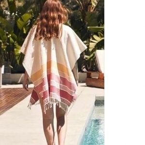 TRIBE ALIVE 100% COTTON CAFTAN/PONCHO ONE SIZE
